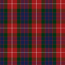 Red and Blue Plaid Fabric Printed by Spoonflower BTY