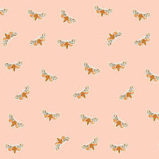 Blush Pink Moth Fabric Printed by Spoonflower BTY