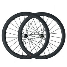 50mm Depth 700C Clincher Disc Wheels Road Bike Bicycling Carbon Wheelset