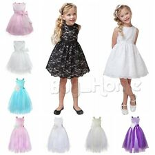 Girls Bridesmaid Dress Kids Princess Wedding Summer Party Flower Prom Pageant