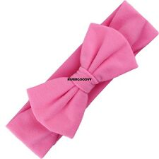 New Baby Solid Headband Bow Headband Bow Hair Band Girls Accessories VGY01