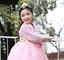 Girl Dress Hanbok Korean traditional Korea Baby 1st birthday Party Pink Lace