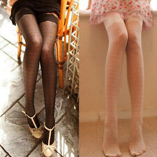 Stylish Women Girl Sexy Fashion Dot Slim Black White Pantyhose Tights Stocking