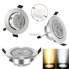 Dimmable 9W LED Recessed Ceiling Panel Down Light Lamp Warm/Cool White 85-265V