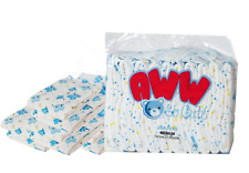 Blue Teddy Bear Printed Absorbent Disposable Adult Diapers