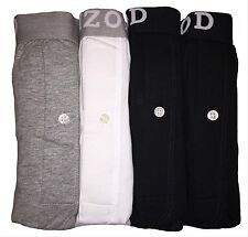 IZOD Mens 4-Pack Knit Boxers, Grey/White/Black