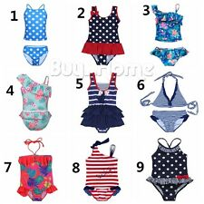 Girls Kids Swimwear Tankini One Piece Bikini Swimsuit Bathing Suit Beachwear Set