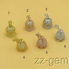 SF0005 micro pave Cubic Zircon crown jewelry pendant
