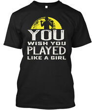 Softball You Wish... Play Like A Girl Wish Played Hanes Tagless Tee T-Shirt