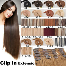 15inch 70g 7pcs/Set 100% Remy Clip In Human Hair Extensions