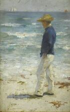 Looking Out to Sea by Henry Scott Tuke (Classic English Impressionist Art Print)