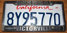 Chevrolet Dealer  License Plate Frame Victorville CA. & Expired Calif Plate
