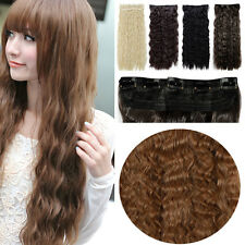 Corn Wave One Piece Clip in Hair Extension as Natural Real Curly Thick Long A321