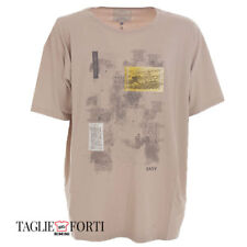 Maxfort Maxfort. Extra large men's printed t-shirt short sleeves 1028 beige