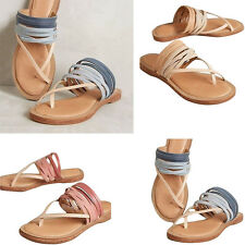 Women Sandals New Shoes Gladiator Thong Flops Strap Flip Flat Size Strappy Toe