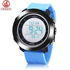 OHSEN 1611 Men Digital Movt Watch LED Light Date Day Alarm Chronograph Display