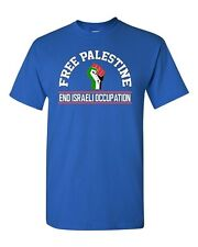 Free Palestine End Israeli Occupation DT Adult T-Shirt Tee