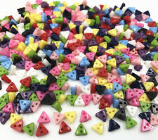 Mixed Colors triangle Resin Buttons 2 holes sewing scrapbooking crafts