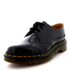 Womens Dr Martens 1461 Patent Lamper Black Leather Goth Lace Up Shoes US 5-11
