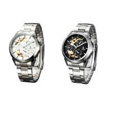 IK Colouring Mens Automatic Mechanical Stainless Steel Skeleton Watches