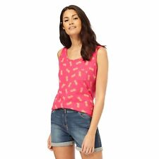 The Collection Womens Pink Pineapple Print Pocket Vest Top From Debenhams
