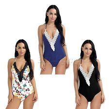 Women's One Piece Bikini Push up Padded Bra Swimsuit Monokini Swimwear Beachwear