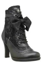 Demonia Gothic Goth Victorian Glam 200 Faux Leather Lace Ankle Boot Vegan