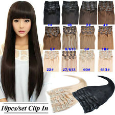 8A Grade 20'' 160g 10pcs/Set 100% Remy Human Hair Clip In Human Hair Extensions
