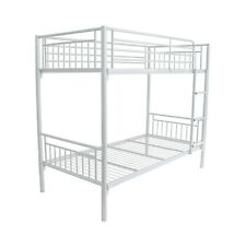 """Montreal New Single 3ft Twin Bunk Bed Metal Sleeper with 7"""" Sprung Mattress"""