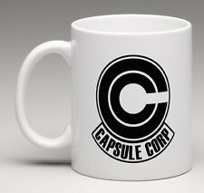 Dragon Ball Z GT Trunks Bulma Super Capsule Corp Logo Coffee Beverage Mug