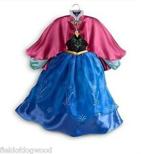 NWT DISNEY STORE FROZEN Princess ANNA COSTUME DRESS FOLK STYLE 5/6 7/8 9/10