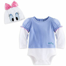 NWT Disney Store Daisy Duck Baby Girls Costume Outfit & Hat 9 12 18 24 Months