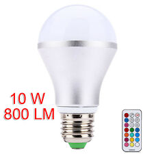 E27 RGB 10W LED Bulb Color Change Dimmable Light Ball Lamp with Remote Control
