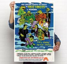 "Aurora Monster Model  1960's magazine Ad 3 poster 11""x17''; 24""x36"""