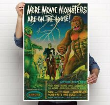 "Aurora Monster Model  1960's magazine Ad 2 poster 11""x17''; 24""x36"""
