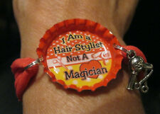 New Hair Stylist Themed Bottlecap Bracelets Your Choice of Sayings/Colors