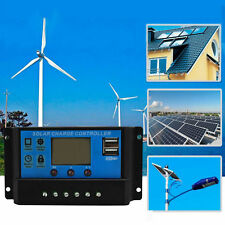 12V 24V Solar Panel Charger Controller Battery Regulator USB LCD 10A 20A 30A
