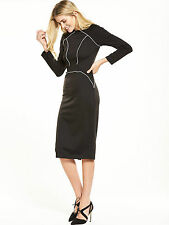 Alter Piping Dress - Black - Size 8