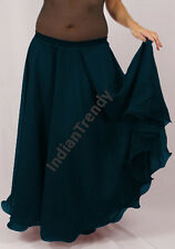 Dark Teal - 2 Layer Reversible Skirts Belly Dance Gypsy 9 Yd Fulll Circle Jupe
