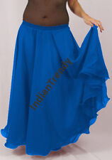 Dodger Blue - 2 Layer Reversible Skirts Belly Dance Gypsy 9 Yd Fulll Circle Jupe