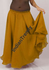 Golden - 2 Layer Reversible Skirt Belly Dance Gypsy 9 Yd Fulll Circle Jupe Gonna