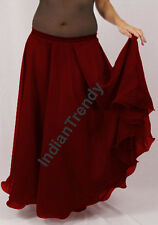 Maroon - 2 Layer Reversible Skirt Belly Dance Gypsy 9 Yd Fulll Circle Jupe Gonna