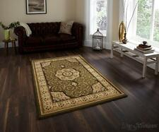 Think Rugs Heritage Traditional Green Rugs 4400