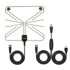 50 Miles Range Amplified HDTV Antenna with Detachable Amplifier Signal Booster