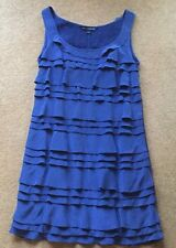 Ladies Blue Party/Evening Dress Pure Silk French Connection Size 8