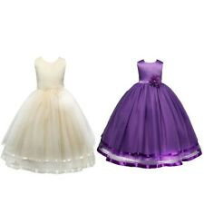 Girl Princess Flower TutuDress Party Pageant Wedding Bridesmaid Kid Easter Gown