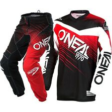 NEW Oneal 2018 Youth MX Element Black Red Jersey Pants Kids Motocross Gear Set