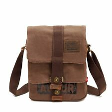 Vintage Mens Cancas Travel Satchel Backpack Rucksack Shoulder Bookbag School Bag