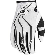 NEW Oneal 2018 Youth MX Element White Kids Dirt Bike BMX Motocross Gloves
