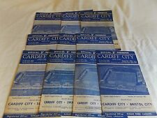 CARDIFF CITY 1959/1960 HOME PROGRAMMES
